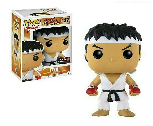 Funko Pop Street Fighter Ryu 137 Game Stop Exclusive