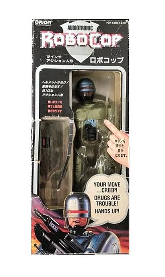 Audiotronic Talking 12'' Robocop Figure Orion Toy Island Rare Japanese Box 1993