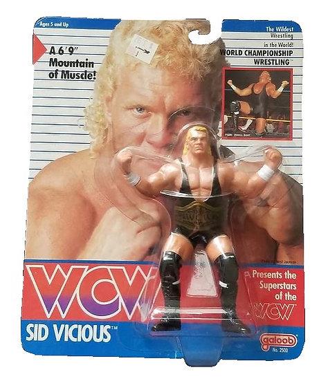 1990 WCW Galoob Sid Vicious is MOC.