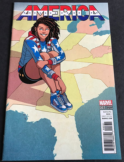 America (Marvel) #3 NM- [Limited 1 for 25 Retailer Incentive Variant Cover]