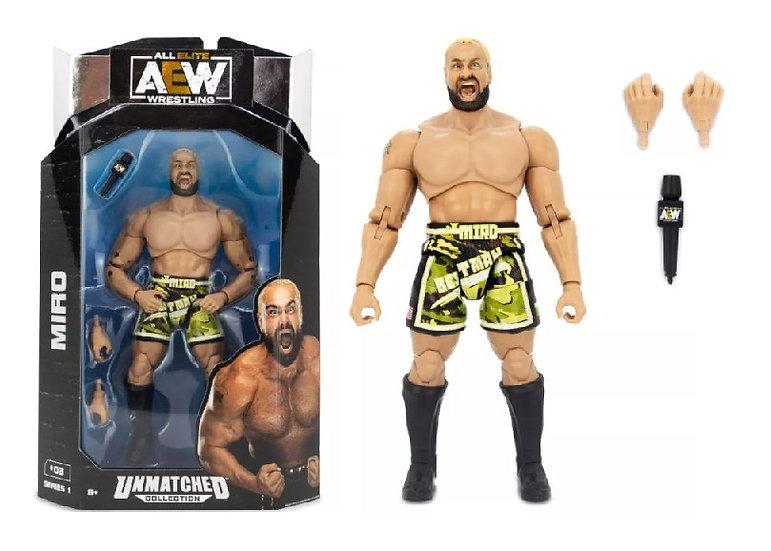 AEW Unmatched Series 1 Miro Wrestling Figure