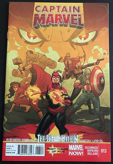 Captain Marvel (2012 7th Series) #13A NM [1st Mohawk]