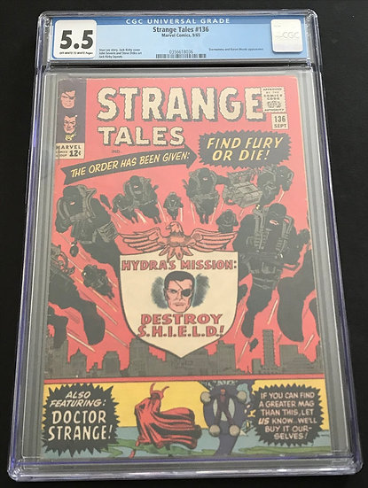 Strange Tales 136 CGC 5.5 Off White To White Pages