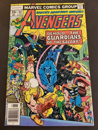 Avengers (1963 1st Series) #167 NM- [1st Guardians of the Galaxy crossover.]