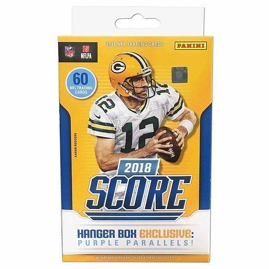 2018 Panini Score Football Trading Cards Hanger Box Exclusive Purple Parallels
