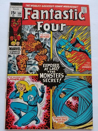 Fantastic Four (1961 1st Series) #106 VF