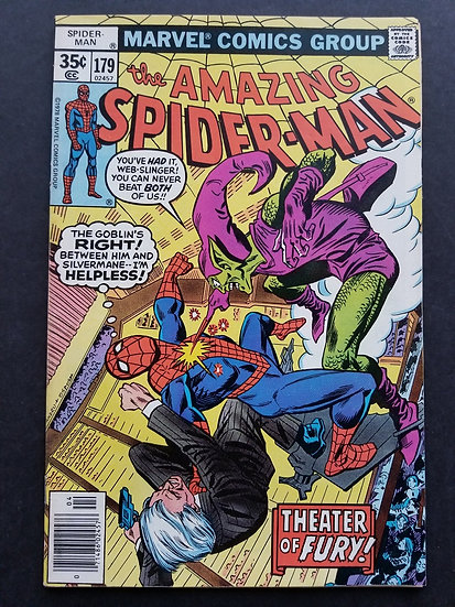 Amazing Spider-Man 179 VF-. Green Goblin Appearance.