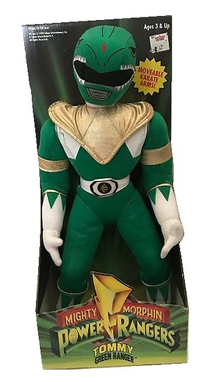 Vintage 1994 Mighty Morphin Power Rangers Action  Plush Doll Tommy Green Ranger