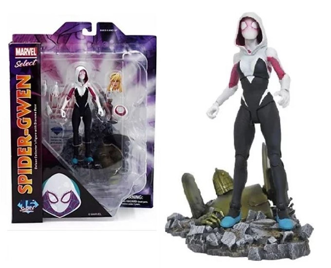 Marvel Select 7 inch Spider-Gwen Deluxe Collector's Figure With Diorama Base
