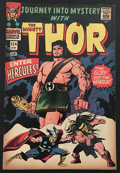 Thor (1962-1996 1st Series Journey Into Mystery) #124 VF- [Hercules appearance.]