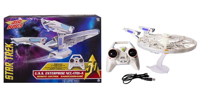 Air Hog Star Trek U.S.S NCC-1701-A  Enterprise RC Drone  With Remote Control