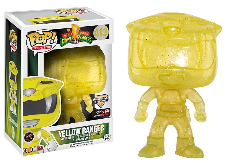 Power Rangers Yellow Ranger 413 Morphing Exclusive Game Stop