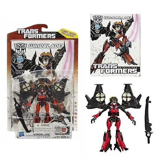 Transformers Generations Deluxe Class Windblade Figure (Comic Book Included )
