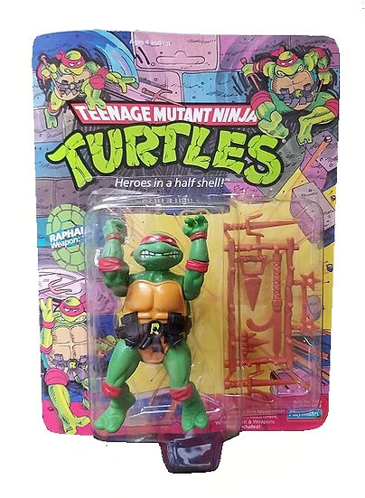 1989 TMNT Teenage Mutant Ninja Turtles Raphael 10 Back is  MOC.