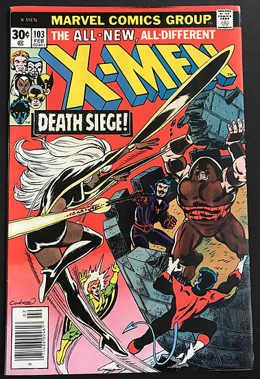 X-Men (1963 1st Series) #103 NM- [Juggernaut appearance.]