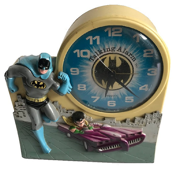 1974 Vtg. Batman And Robin Clock By Janex [Missing Battery Lid, Not Working]