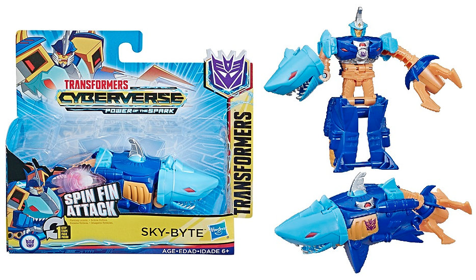 Transformers Cyberverse Action Attackers 1-Step Changer Spin Fin Attack Sky-Byte