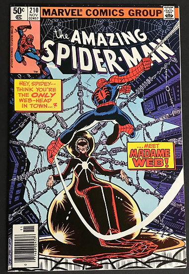 Amazing Spider-Man 210 FN+ 1st Appearance Madame Web.