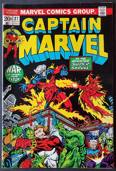 Captain Marvel (1968 1st Series Marvel) #27 FN/VF [3rd Thanos]