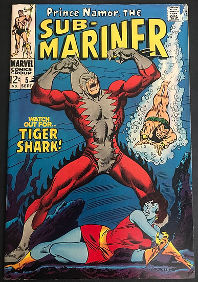 Sub-Mariner (1968 1st Series) #5 VF [1st Appearance of Tiger Shark]