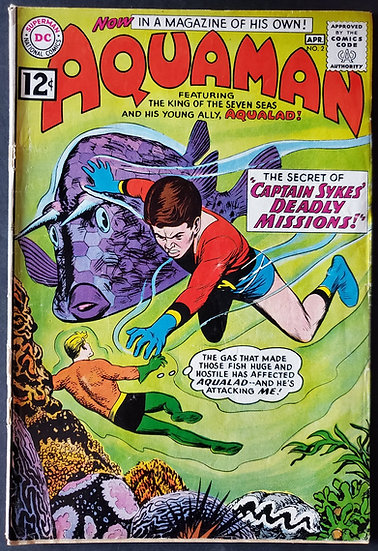 Aquaman (1962 1st Series) #2 [2nd Issue , Cover Detach] GD-