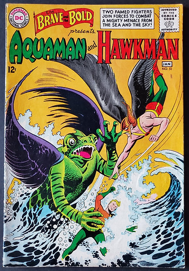 Brave and the Bold (1955 1st Series DC) #51 FN [Presents Hawkman]