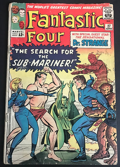 Fantastic Four (1961 1st Series) #27 GD/VG [1st Dr. Strange X-Over]