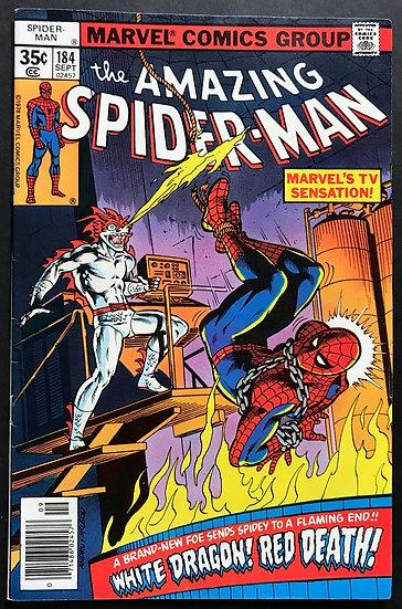 Amazing Spider-Man (Marvel) #184 NM- [1st White Dragon]