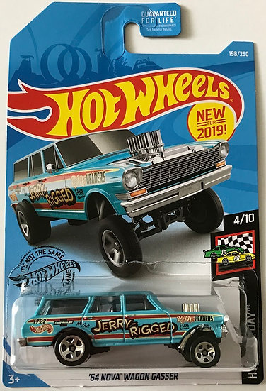 2017 Hot Wheels HW Race Day '64 Nova Wagon Gasser 4/10