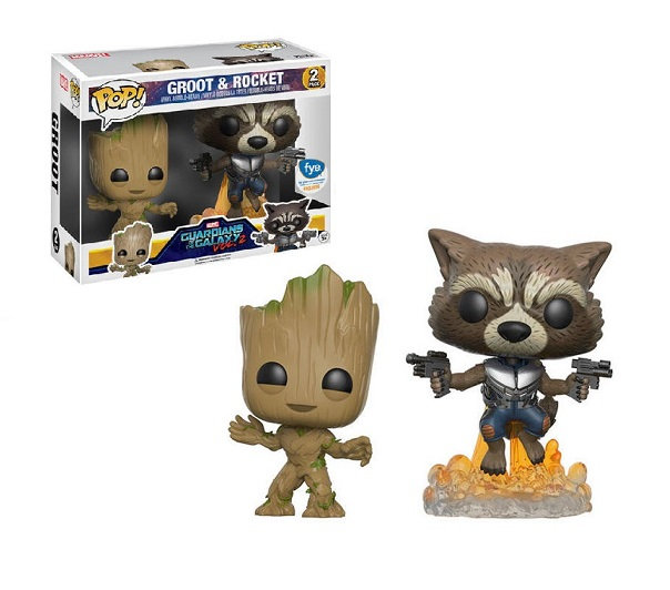 Funko Pop Marvel Guardians Of The Galaxy Vol.2 Bubble Heads Groot And Rocket