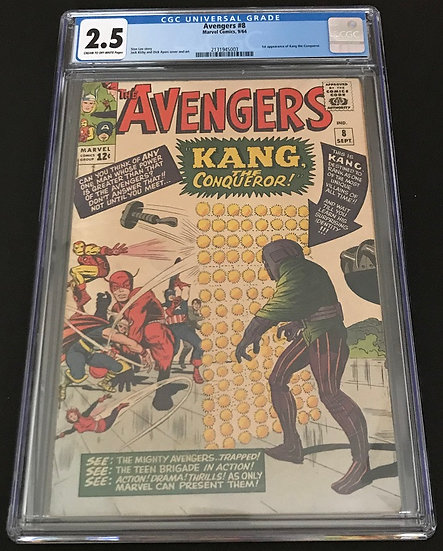 Avengers #8 CGC 2.5 Cream To White Pages
