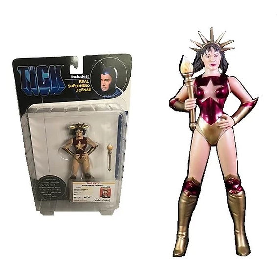 2001 The Tick Series Captain Liberty Action Figure - N2Toys New Selaed