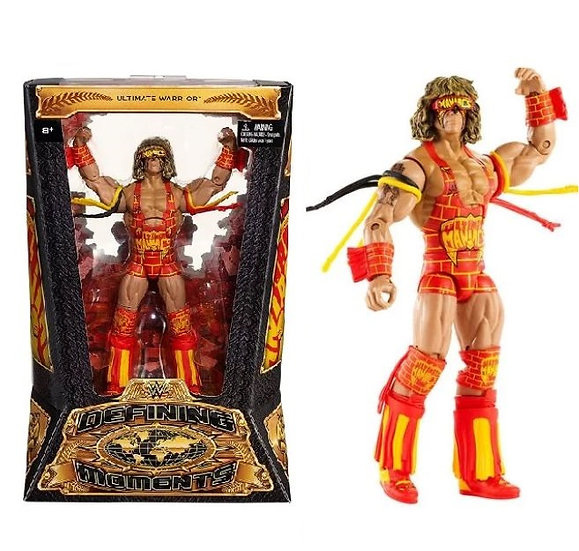 WWE Elite Defining Momments Ultimate Warrior is MISB by Mattel.