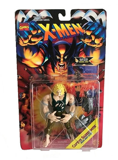 1995 X-Men Invasion Series Captive Sabretooth Break Away Action FIgure - Toy Biz