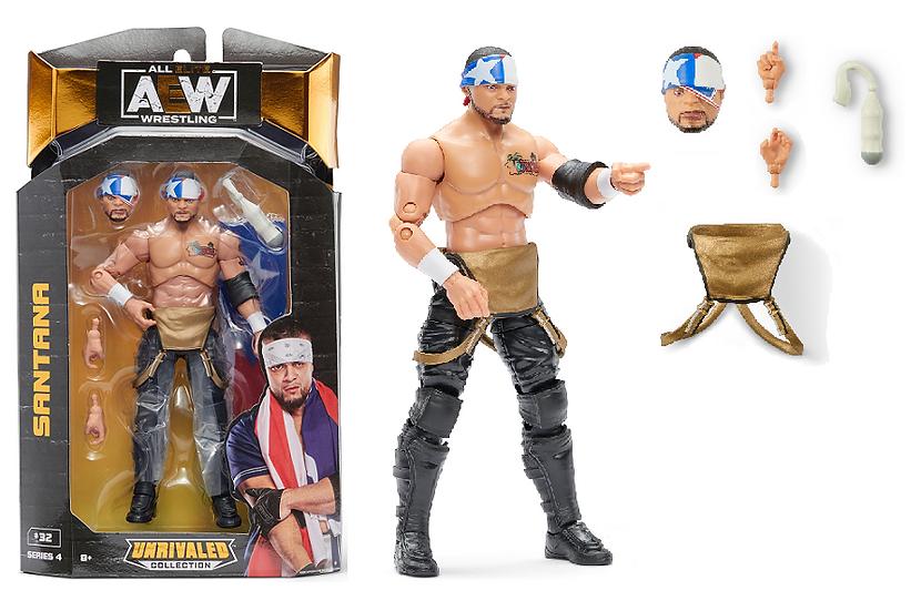 AEW Unrivaled Series 4 Santana Wrestling Figure