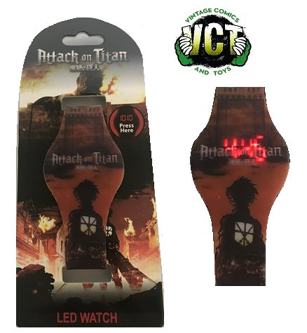 Attack on Titan Eren and Colossal Titan Rubber LED Watch