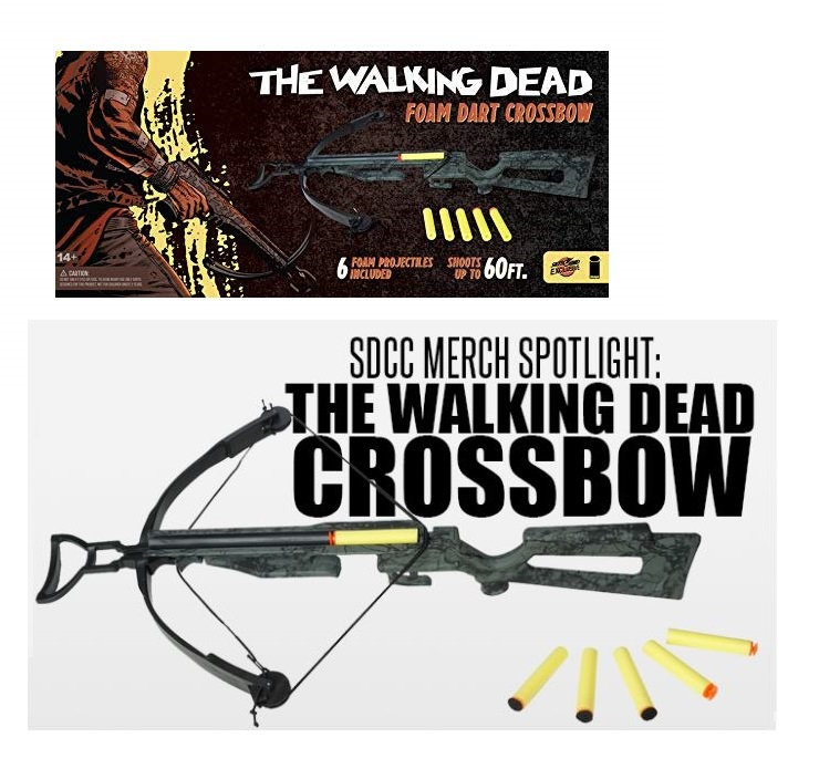 The Walking Dead Foam Dart Crossbow SDCC Skybound Exclusive
