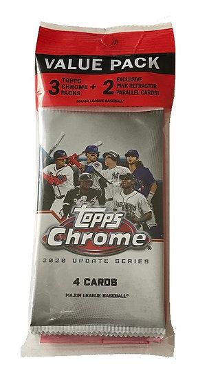 2020 Topps Chrome Update Series MLB Cards Value Cello Pack