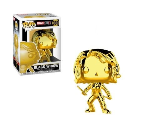 Funko Pop Marvel Studios 10 Years black Widow [gold Chrome] 380