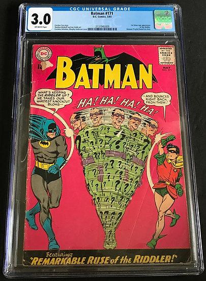 Batman #171 CGC 3.0 Off-White Pages