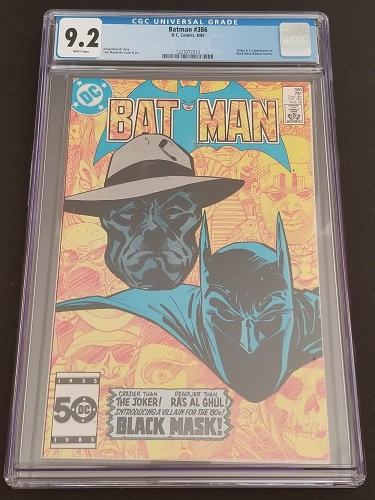 Batman 386 CGC 9.2 1st Black Mask