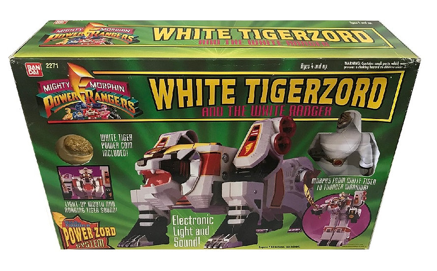 1994 Mighty Morphin Power Rangers White Tigerzord And The White Ranger #2271