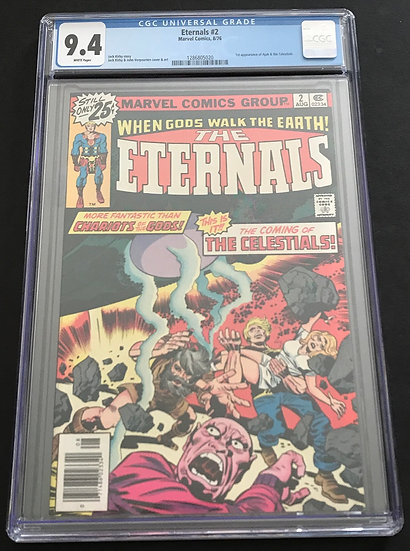 Eternals 2 CGC 9.4 White Pages