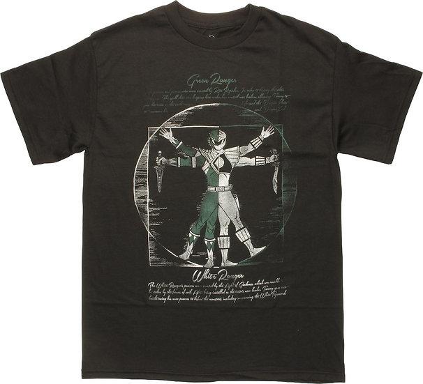 Power Rangers Vitruvian Green and White T-Shirt