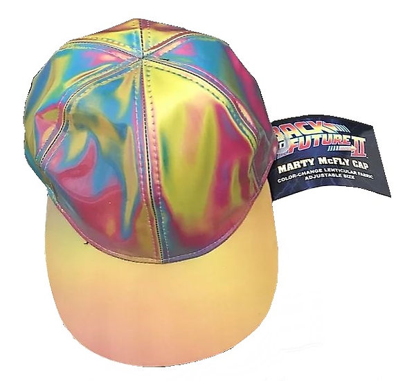Back To The Future Part2 Marty Mcfly Cap - Color Change Lenticular Fabric Adjust