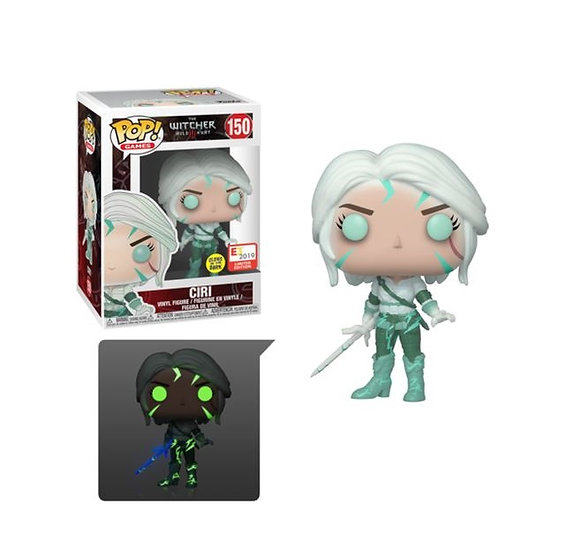 Funko Pop The Witcher Wild Hunt [GITD] Ciri 150 E3 2019 Convention Exclusive