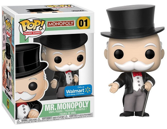 Funko Pop Monopoly Mr.Monopoly  01 Walmart Exclusive