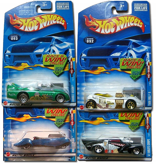 2002 Hot Wheels He-Man Vehicle Case Set Of 4 [091,092,093,094]