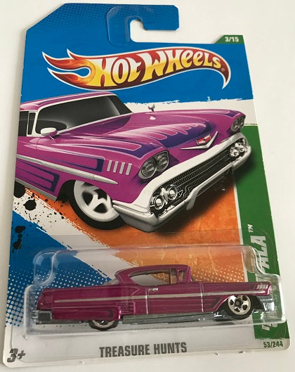 Hot Wheels Treasure Hunts '58 Impala - 53/244 New Sealed