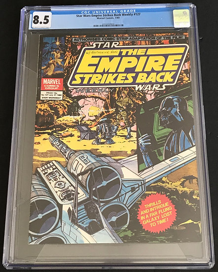 Star Wars Empire Strikes Back Weekly #127 CGC 8.5 Off-White To White Pages